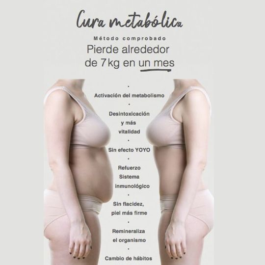 Pierde peso con la cura metabólica